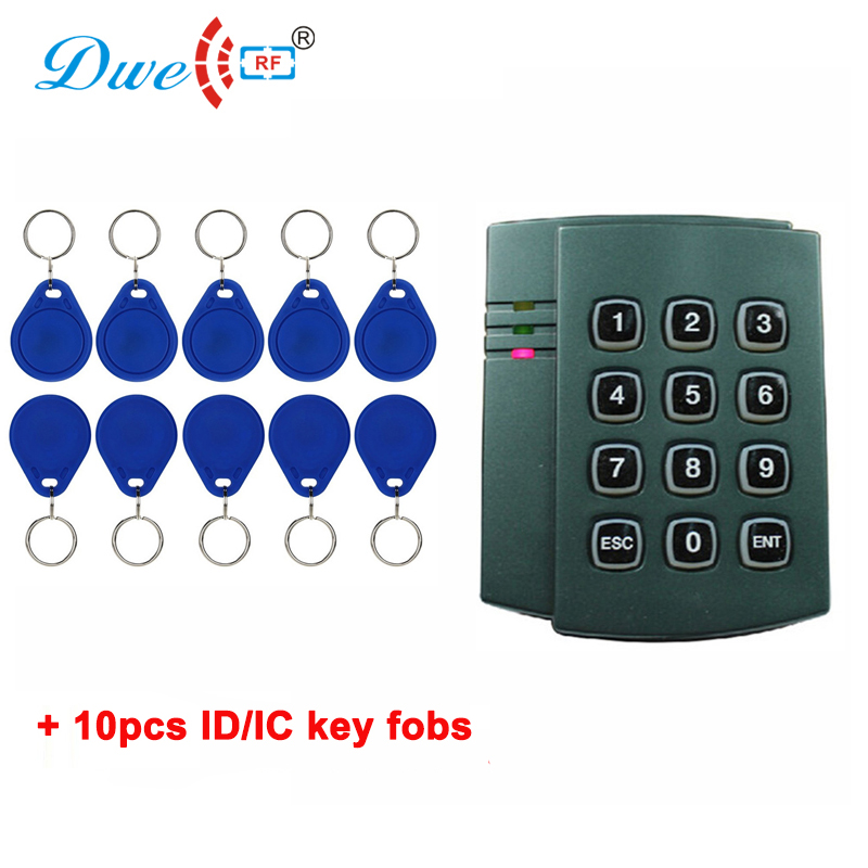 DWE CC RF rfid access control system plastic keypad contactless card reader and rfid key fobs 10w led 60 degrees flood beam work light w cree xml t6 10 30v
