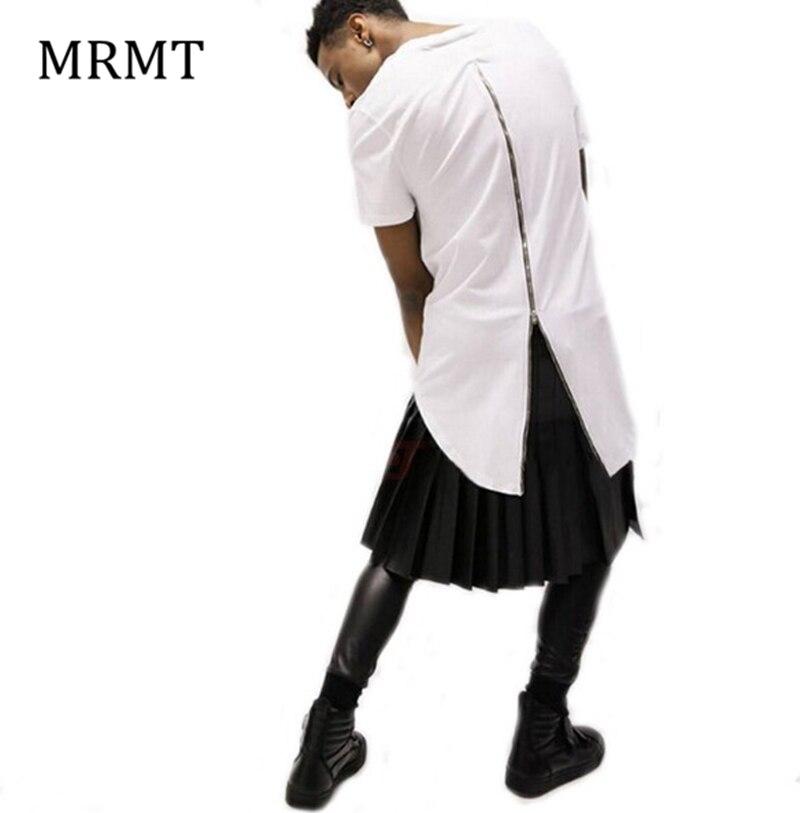 الرجال عارضة تي شيرت tyga بارد طويل زيبر تي شيرت الذهب الجانب سستة قصيرة الأكمام t-shirt الهيب هوب طويل تي البلوز 3 ألوان