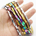 """Wholesale 3x5mm/4x8mm Rectangle Plated Hematite Beads 15"""" ,For DIY Jewelry Making !We provide mixed wholesale for all items!"""