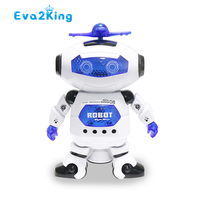 High Quality 360 Degree Rotating Flash Light Music Robot Luminous Dancing Singing Music Robot Toys Intelligent