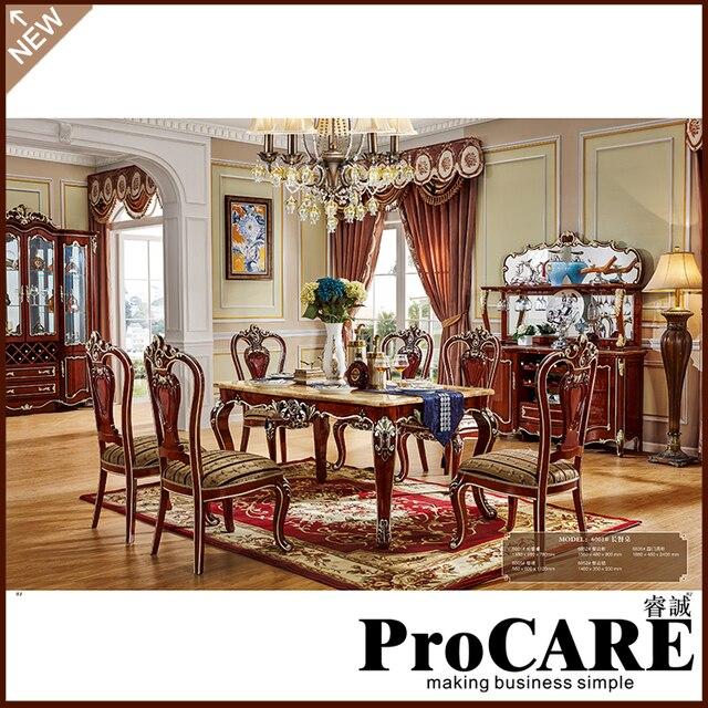 Une Longue Table A Manger Ensemble Complet Avec 6 Chaises De Foshan