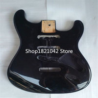 Electrique ST guitare corpsBasswood material black body light electric guitar