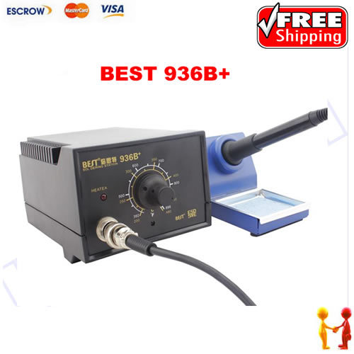 ФОТО BEST 936B+ Antistatic thermostat soldering station, mobile phone repair special electric iron solder iron