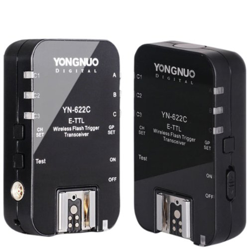 YONGNUO disparador de Flash TTL inalámbrico YN622 YN-622C II KIT de C-TX con sincronización de alta velocidad HSS 1/8000s para cámara Canon 500D 60D 7D 5DIII - 4