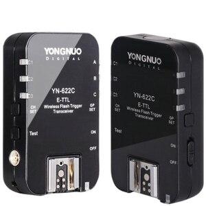 Image 4 - Yongnuo sem fio ttl flash gatilho yn622 YN 622C ii C TX kit com alta velocidade sync hss 1/8000s para câmera canon 500d 60d 7d 5 diii