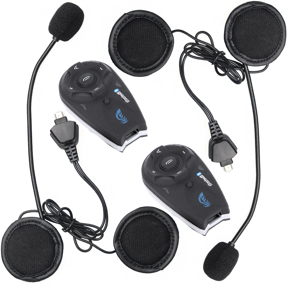 2 pcs Wireless Bluetooth BT Interphone for 5 Riders 1200M Motorcycle Helmet Intercom Headset with FM function carchet 2x bt bluetooth motorcycle helmet inter phone intercom headset 1200m 6 rider motorbike headset handsfree call