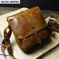 New 2015 genuine leather fashion men messenger bag, high quality vintage messenger bag man cross body bags designer brand