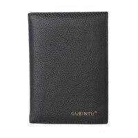 New Cowhide Leather Men Middle Long Wallets Black Color Credit Card Holder Driver S License Passport