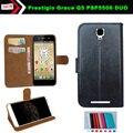 Кожи сальто Смартфон скольжению Чехол для Prestigio Грейс Q5 PSP5506 DUO Чехол Карты Слоты Кошелек 7 Цветов