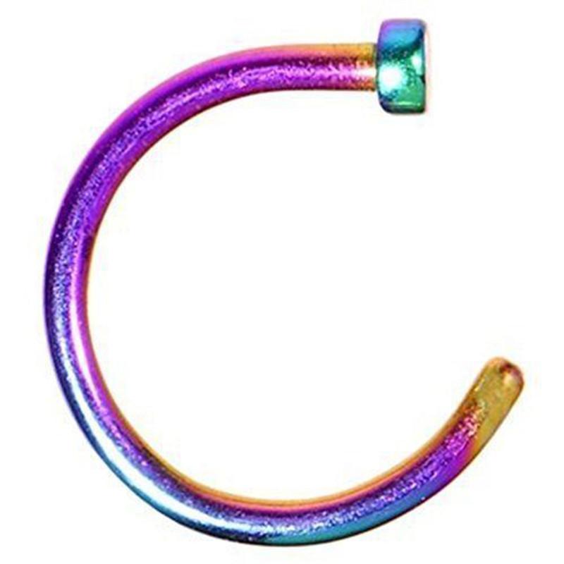 HTB1K3VdQFXXXXb5XFXXq6xXFXXXs Nostril Hoop Stud Ring Clip On Piercing