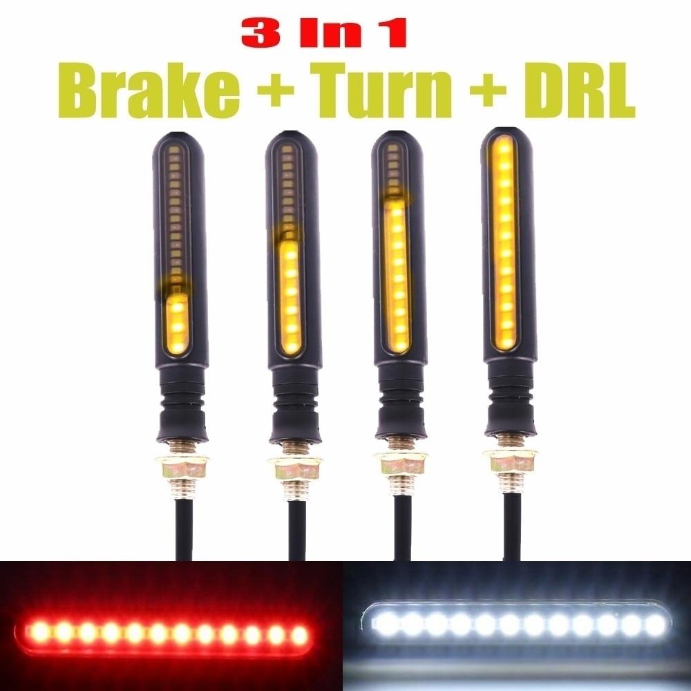4x Motorcycle Motorbike Turn Signal 12 LED 10mm Amber Tail Light Bulb Blinker