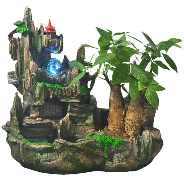 Fontaine DEau Avec Pompe Petite Rocaille Boule De Cristal