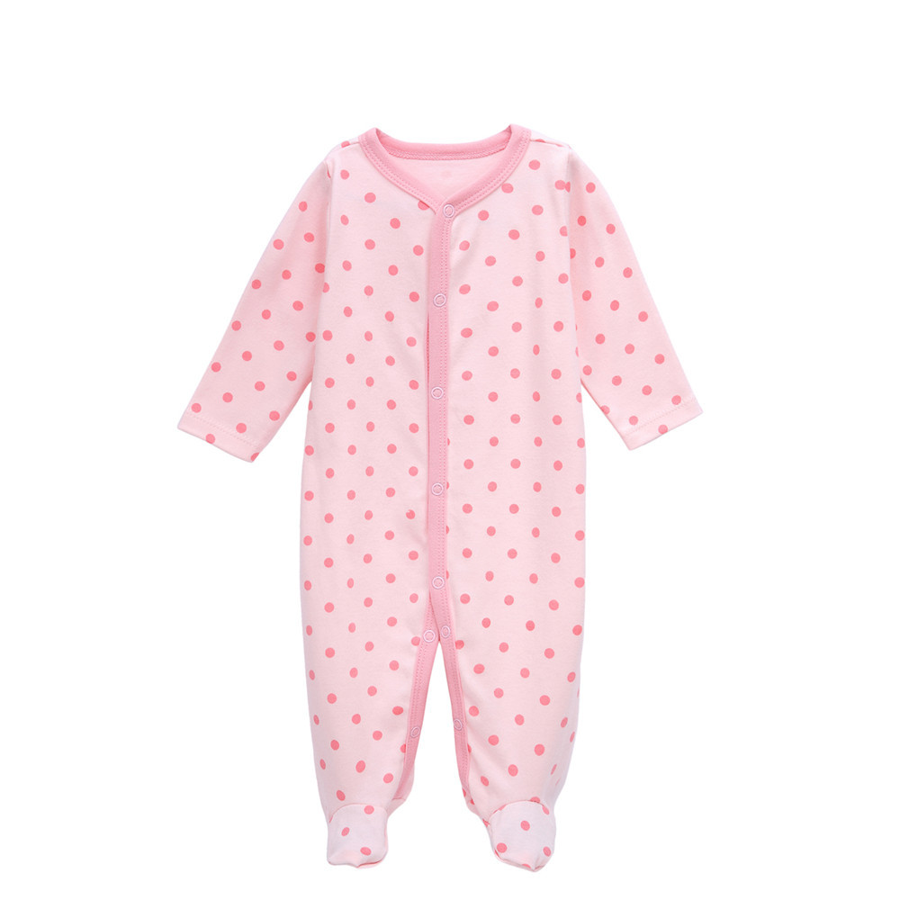 Nyfödda barns uppsättningar Småbarn Babyjumpsuit Pojkar Flickor Bomull Varm Spädbarn Romper Bodysuit Barn Kläder Outfit