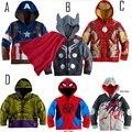 11 de novembro do ano Novo STAR WARS Avengers Homem De Ferro meninos Hoodies casaco jaqueta de Manga Longa do Menino Camisola Crianças Outerwear 1111 venda