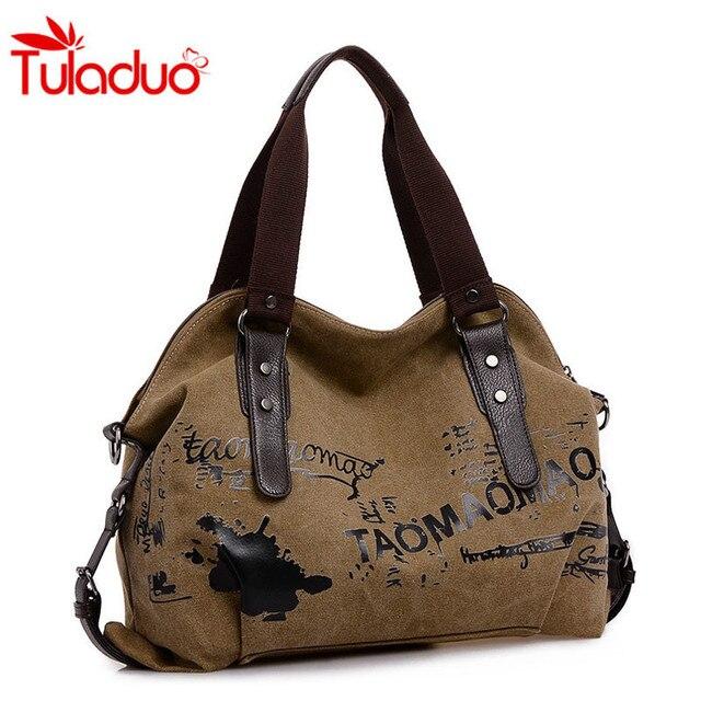 62db53d29b Sac femme Vintage Graffiti toile sacs à Main femme célèbre Designer sacs à  bandoulière dames fourre