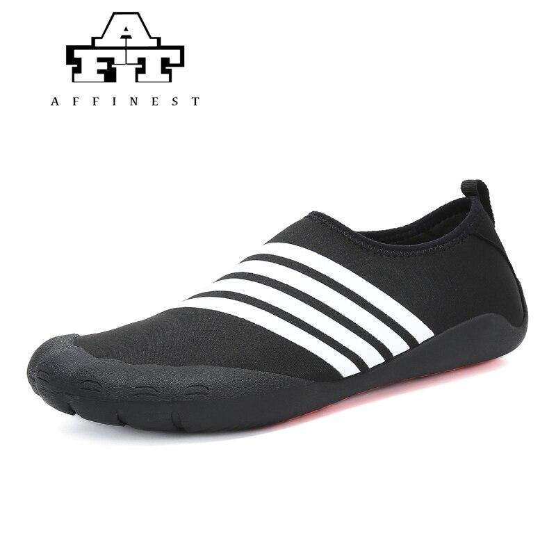 Nueva llegada unisex calcetines Descalzo los zapatos playa nadar Surf negro Talla:37 jurvNv0