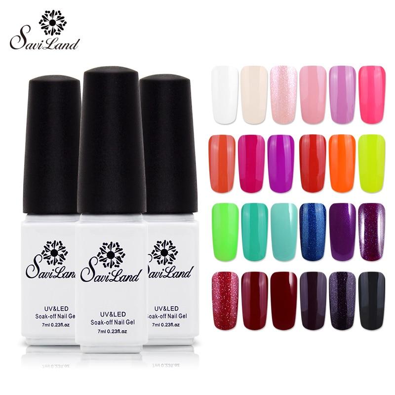 Saviland 1pcs UV Gel Color Soak Off Long Lasting Esmalte Gel ...