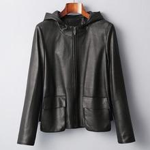 Cow Leather Coats Spring Autumn Real Genuine Leather Jacket Women Clothes 2019 Women's Fur Coat Korean Vintage Tops ZT2355