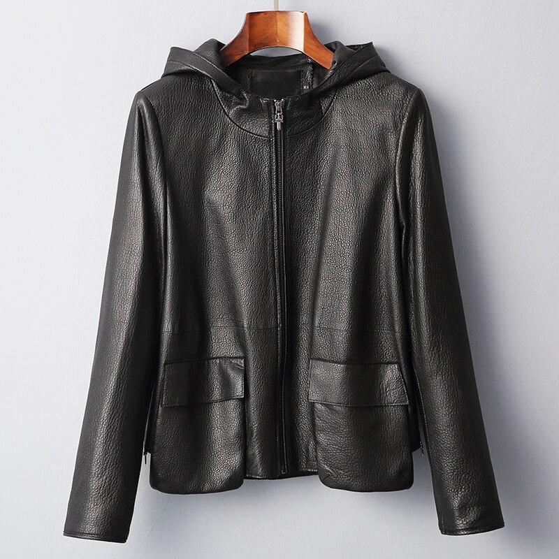 Vache cuir manteaux printemps automne réel en cuir véritable veste femmes vêtements 2019 femmes manteau de fourrure coréen Vintage hauts ZT2355