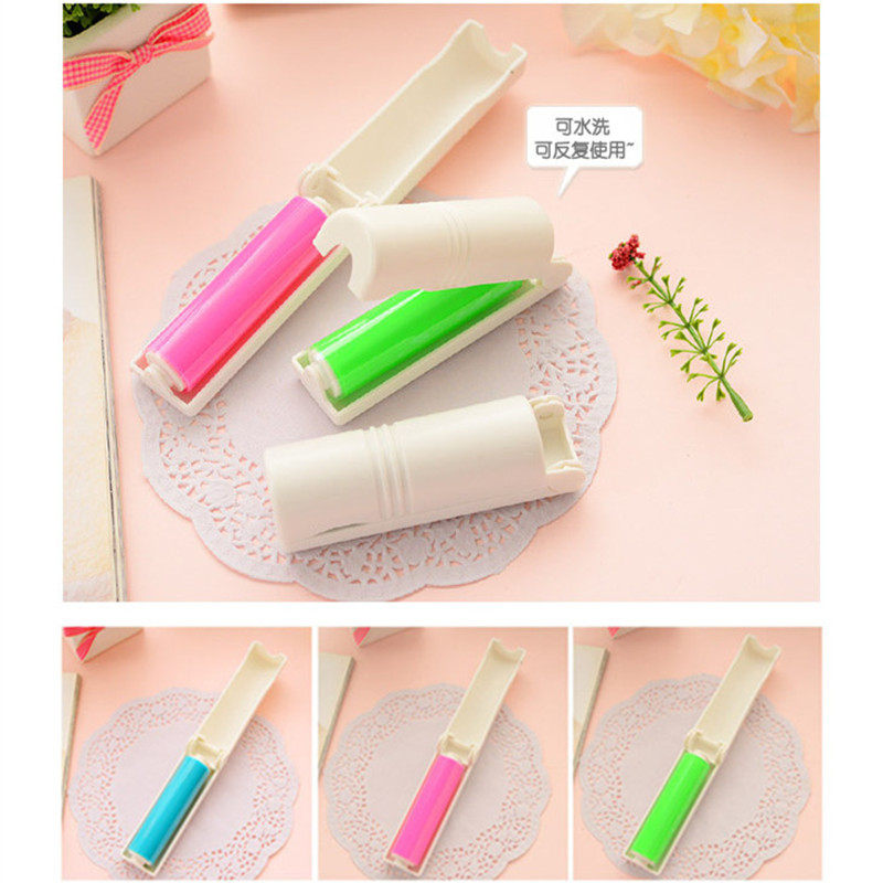 Buy 1Pc Portable Manual Roller Dust Removal Brush Home Carpet Bed Sheet Clothes Hair Removal Sticky Hair Removers Folding Brush for only 1.23 USD
