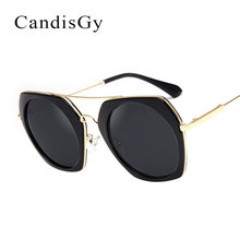 Mujeres Espejo Gafas de Sol de Moda Diseñador de la Marca de la Señora Rosa Gafas de Sol Eyewear Mujer YD104