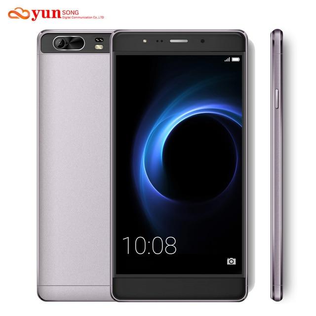 Оригинальный мобильный телефон yunsong s9 плюс 16mp камера 6.0 дюймов смартфон mtk6580 quad core dual sim мобильный телефон gsm/wcdma 3 г телефон