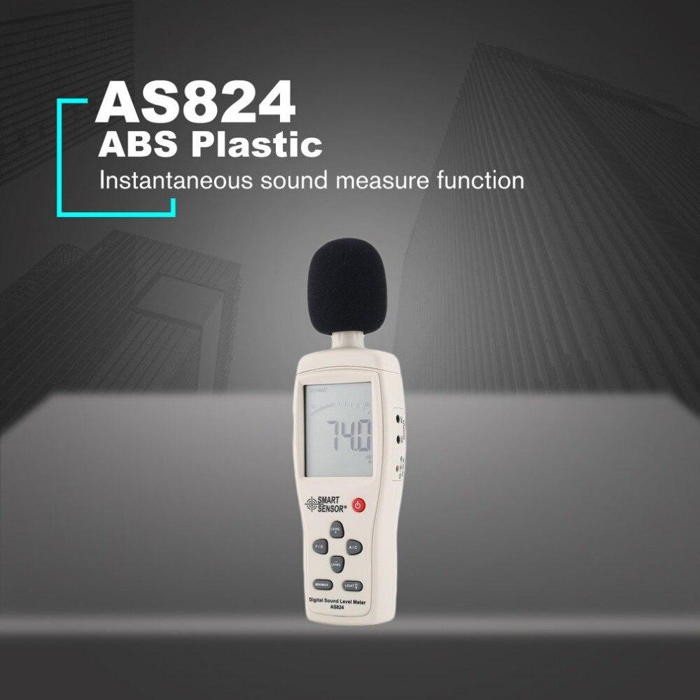 Capteur intelligent AS824 sonomètres décibels compteur enregistreur bruit Audio détecteur numérique Diagnostic-outil automobile 30 ~ 130dB - 2