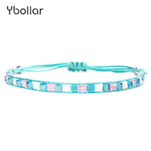1pc Charm Women Handmade Friendship Bracelet Rise Beads Seed Woven Braided Bracelets Boho Jewelry