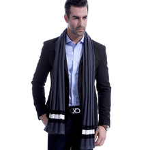 Autumn and winter new striped woolen mens scarf casual thickening keeping warm