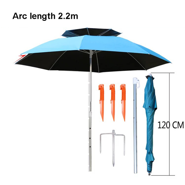 Travel Tale 1 8 2 2m Universal Outdoor Fishing Umbrella Uv Sun Double Layer Beach
