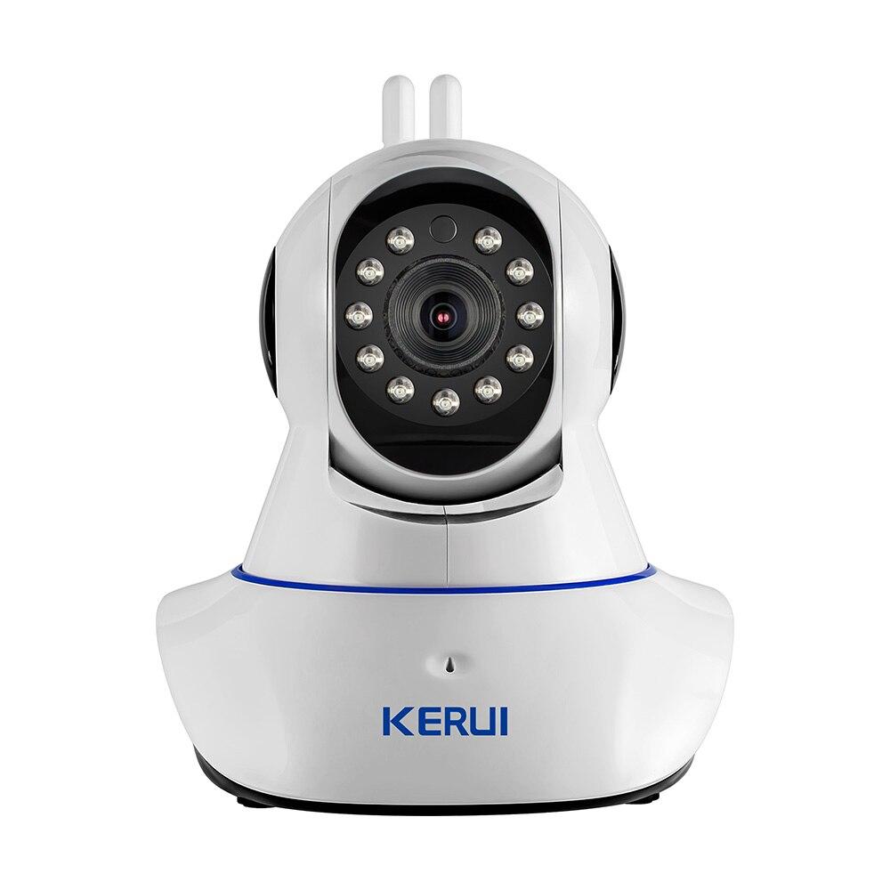 KERUI Беспроводной Wi-Fi HD IP Камера Wi-Fi GSM Главная охранной сигнализации Системы безопасности 720 P 3,6 мм len GSM устройство наблюдения