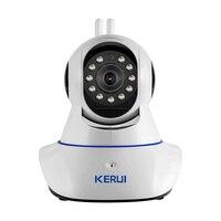 KERUI Wireless WiFi HD IP Camera WiFi GSM Home Intruder Burglar Alarm System Security 720P GSM