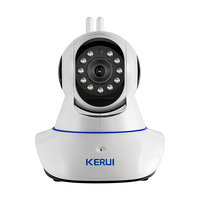 KERUI Wireless WiFi HD IP Camera WiFi GSM Home Intruder Burglar Alarm System Security 720P GSM