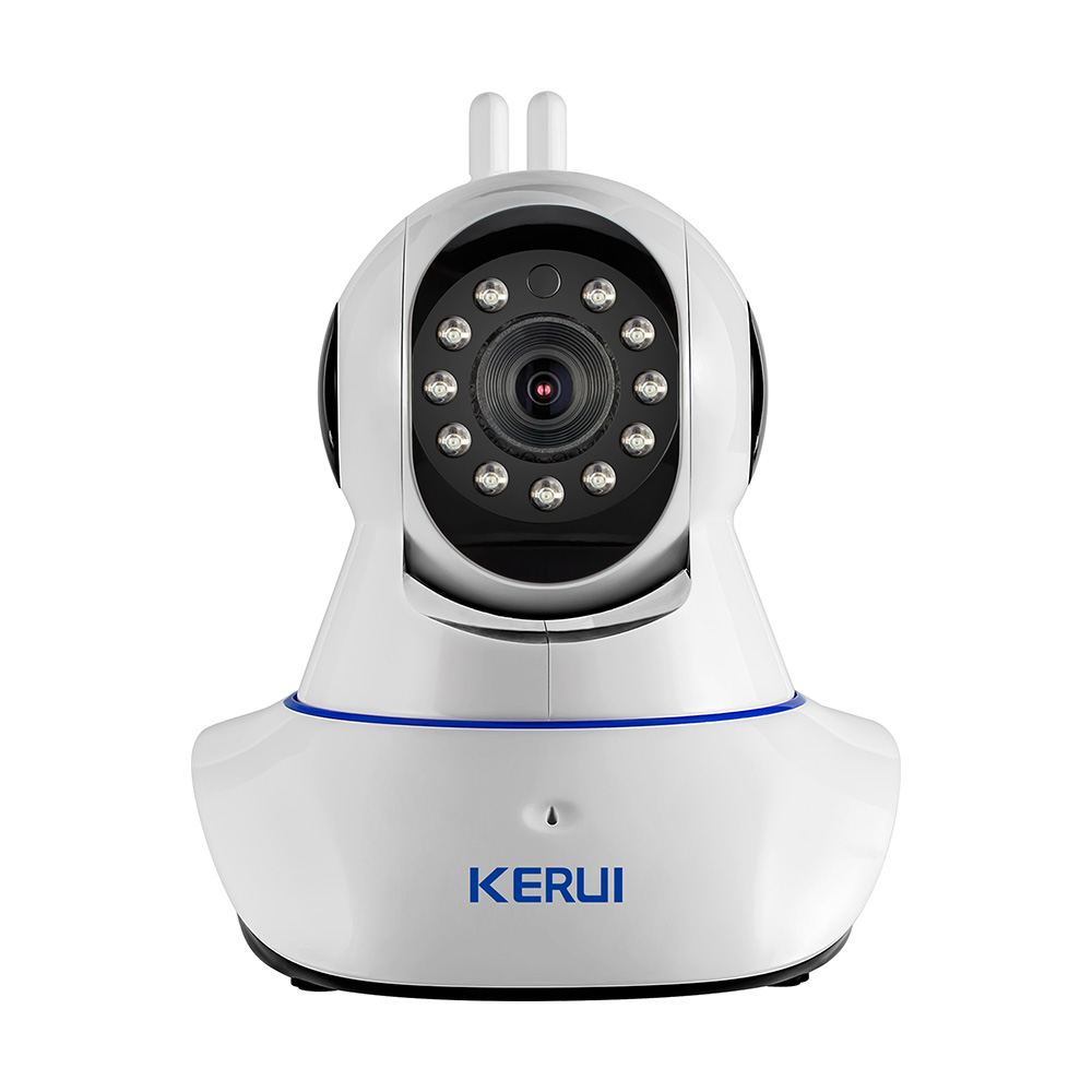 KERUI Wireless WiFi HD IP Camera WiFi GSM Home Intruder Burglar Alarm System Security 720P 3.6mm len GSM Surveillance Device цена