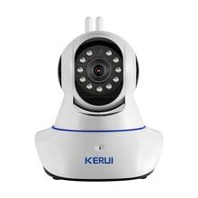 KERUI Беспроводная Wi-Fi Ip-камера HD WiFi GSM Главная Охранной охранной Сигнализации Безопасности 720 P 3.6 мм лен GSM Прибор наблюдения