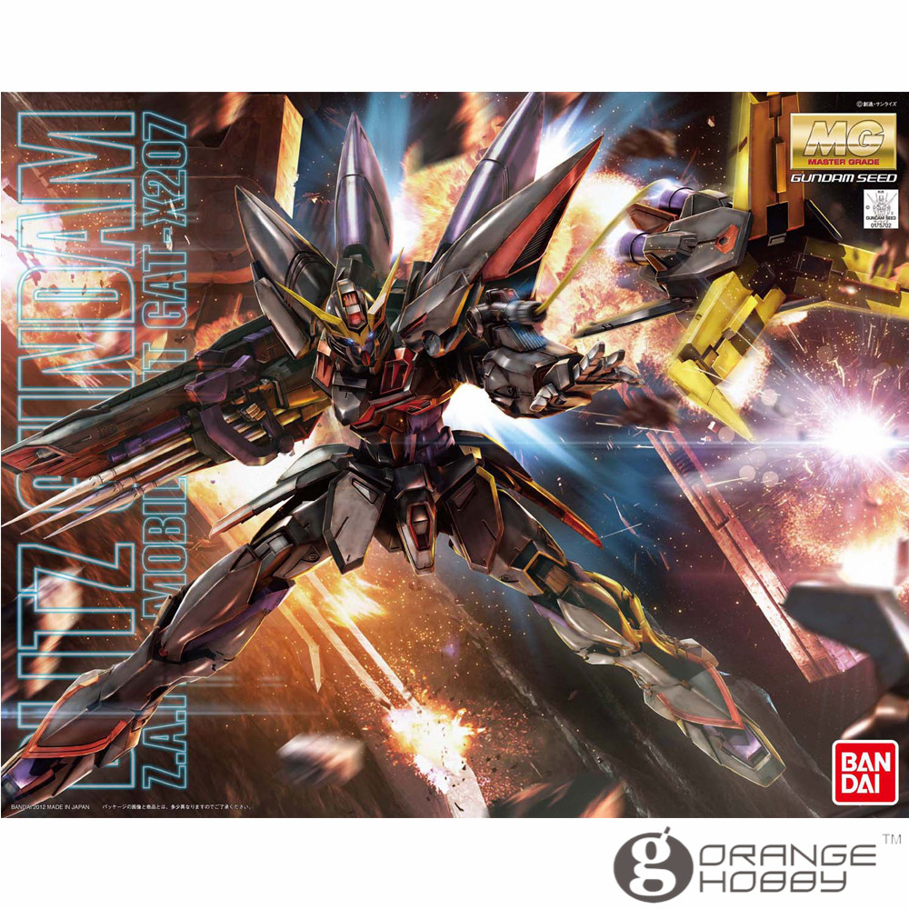 OHS Bandai MG 158 1/100 GAT-X207 Blitz Gundam Mobile Suit Assembly Model Kits ohs bandai mg 177 1 100 gx 9900 gundam x mobile suit assembly model kits