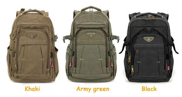 Man's Canvas Backpack Travel Schoolbag Male Backpack Men Large Capacity Rucksack Shoulder School Bag Mochila Escolar 2