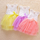 Save 0.3 on Kids Party Princess Flower Girls clothess Sleeveless Tulle Dress Sequins Bow Tutu Dresses