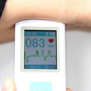 Image 2 - جهاز تخطيط القلب EKG المحمول شاشة ملونة ECG مراقب آلة القلب المحمولة BT USB PC البرمجيات الرعاية المنزلية