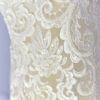 Luxury Heavy Industry Wedding Dress Lace Fabric Sequins Beads Mesh Embroidered Lace Decorative DIY Width 135cm 1yard