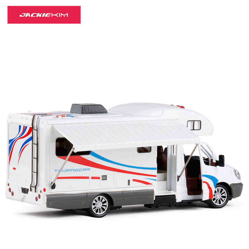 1:32 Scale Alloy Metal Diecast Car Model For Sprinter Luxury Motor Home Recreational Vehicle RV Trailer Caravan Model