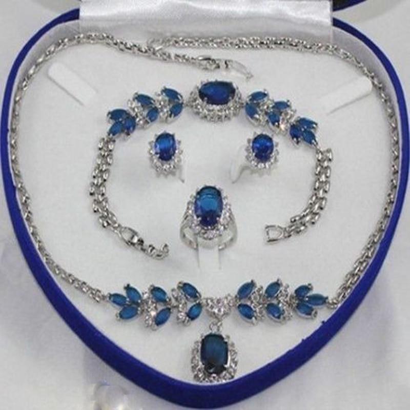 Jxryxrth women's fashion jewelry Earring Bracelet Necklace Ring +(no box) B5618 new women s fashion white necklace bracelet earring ring no box aa565
