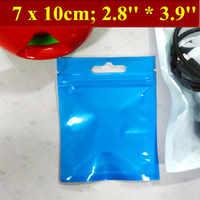 200 unids/lote 7x10 cm (2,8 ''* 3,9'') Grosor 170mic avión agujero bolsa de comida, bolsa de plástico de perlas transparentes, bolsa de plástico de película de perlas, bolsa de regalo