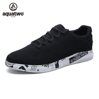 AQUATWO 2017 Men Skate Shoes Lace Up Spring And Autumn Suede Leather Casual Shoes US6 5