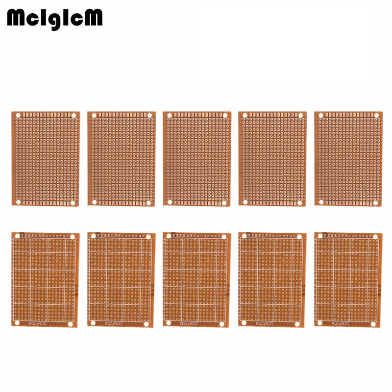 MCIGICM 10Pcs New Prototype Paper Copper PCB Universal Experiment Matrix Circuit Board 5x7cm Brand