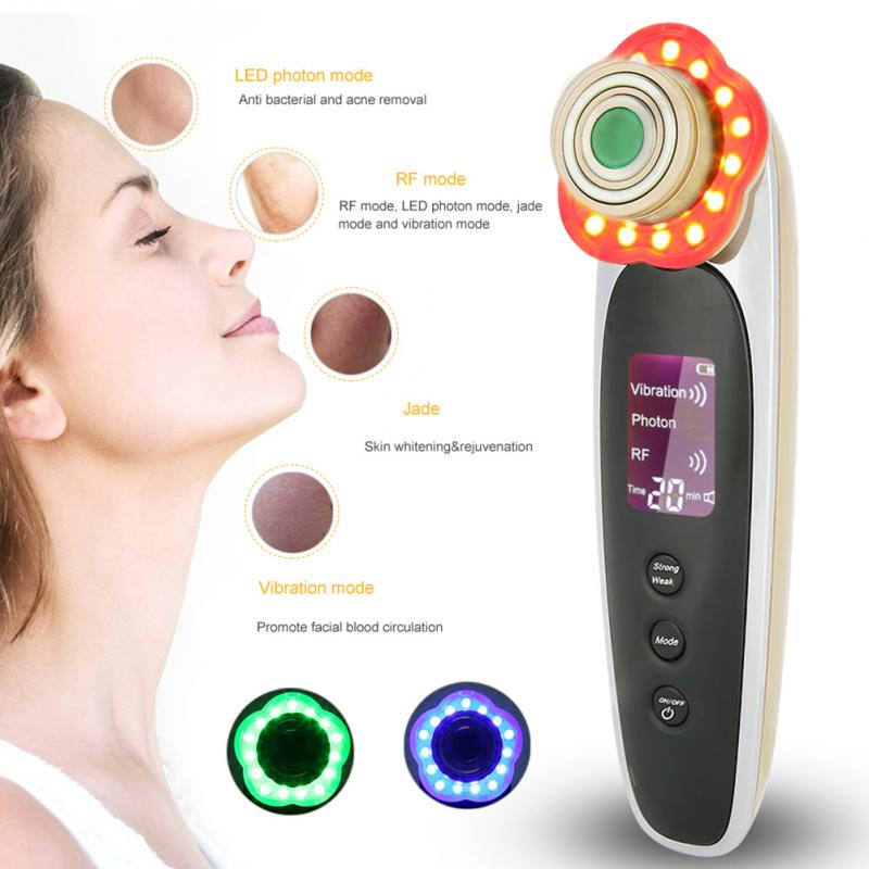 LED Photon Facial RF Radio Frequency Skin Rejuvenation Tighten Face Lifting Beauty Skin Treatment Wrinkle Removal Machine