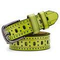 2016 Moda Correa de Las Mujeres Cinturones de Diseño Hueco Cinturón Niñas Traspasado Cintura Band Vintage Pin Hebilla de Cinturón ceinture femme W242