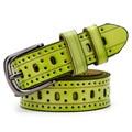 2016 Mulheres Da Moda Cinto Cintos de Grife Cinto Perfurado Oco Meninas Faixa Da Cintura Do Vintage Pin Fivela de Cinto ceinture femme W242