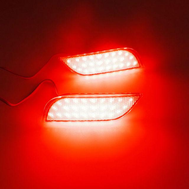 Julho Rei Car LED Luzes de Freio + caso À Noite Correndo Luz para Subaru Exiga (YA) 2009 ~ ON, LED Rear Bumper Fog Lamp, 1 jogos/lote