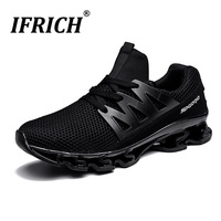Men Running Shoes Height Increasing Summer Breathable Sneakers Big Size Ifrich 2019 Sport Trainers Elastic Sole Athletic Shoes
